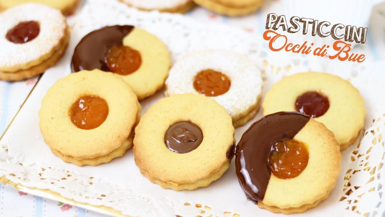 Ricetta Dolci Occhio Di Bue.Pasticcini Occhi Di Bue Fatti In Casa Ricetta Facile E Tanti Gusti Butter Biscuits Youtube