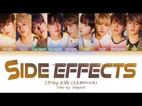 STRAY KIDS - Side Effects (부작용) (Color Coded Lyrics Eng/Rom/Han/가사)
