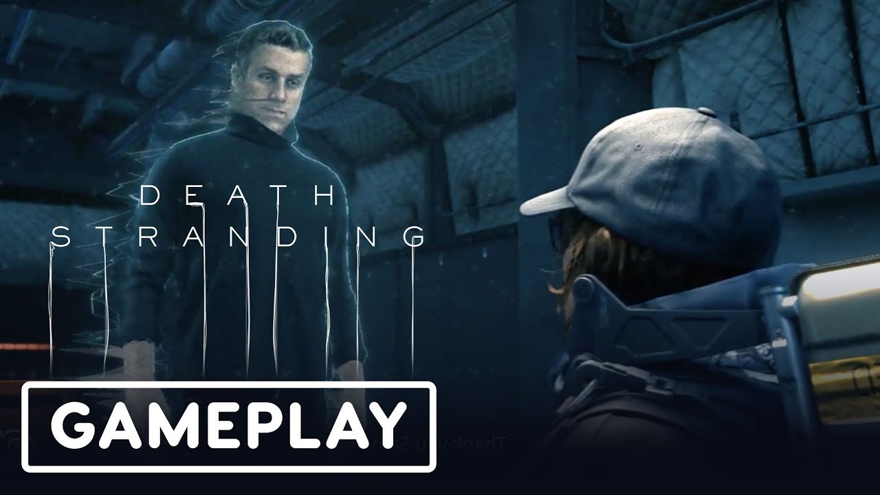 Death Stranding Gameplay Demo mit Hideo Kojima (Geoff Keighly Peeing) - Gamescom 2019 + video