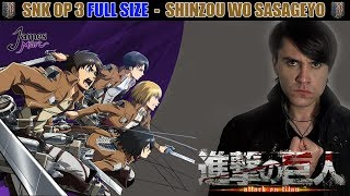 Shingeki no kyojin op 3 full español / latino (doblaje fiel)  shinzou wo sasageyo #83