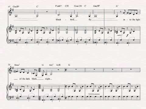 Tenor Saxophone - Blackbird - The Beatles - Sheet Music, Chords, and ...