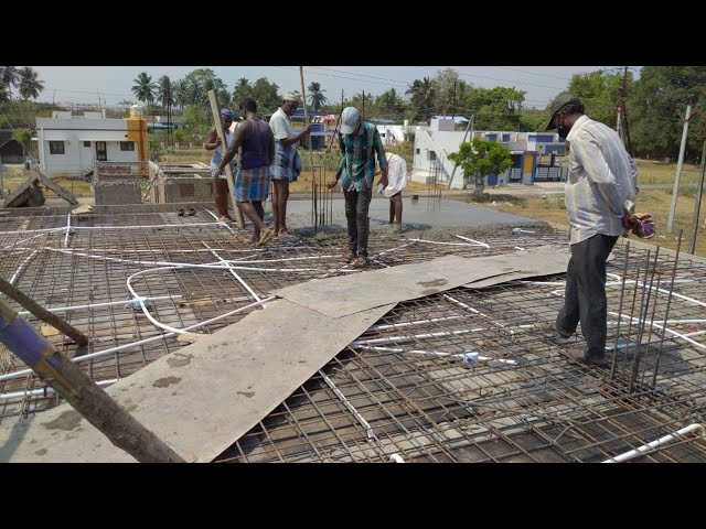Roof Work I 900 Sq.ft Building Full R.C.C Work with M.sand - Cement - 20mm Aggregate by GIRI HOMES
