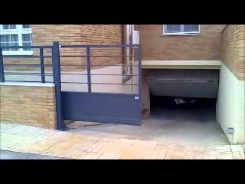 Puerta corredera autoportante youtube - Puerta empotrada corredera ...