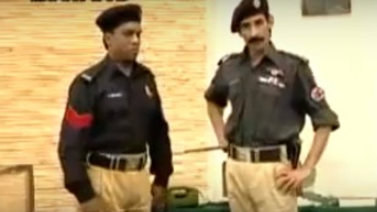 Iftikhar Thakur and Amanat Chan Police Officer - Stage Drama Clip