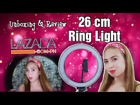 Unboxing 26 cm Ring Light from Lazada // Quick Review