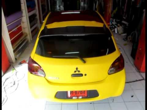 Autocar wrap Mitsu Mirage Matte Yellow.mpg