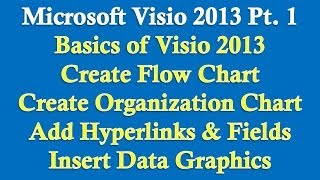 Microsoft Visio 2013/2010 pt 1