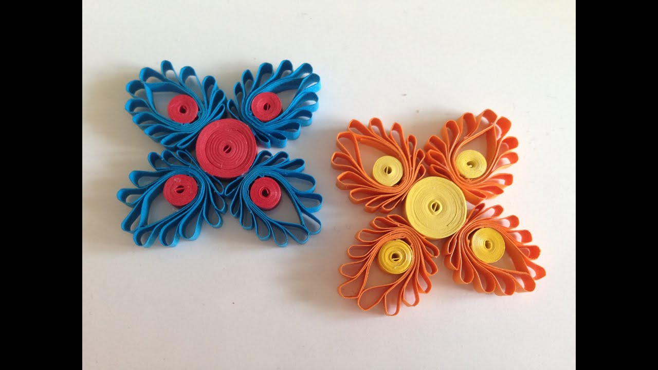 Papercraft Quilling Flowers with a hair comb