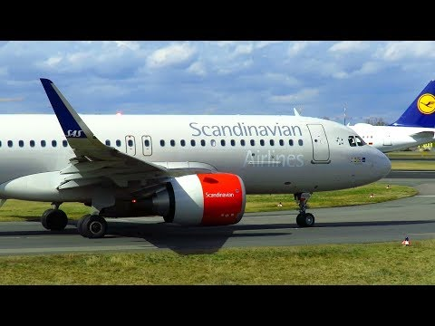 CLOSE UP! Scandinavian Airlines Airbus A320NEO Landing and Takeoff at Berlin TXL | LN-RGN