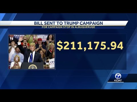 Albuquerque Sends Trump Campaign Bill For $211,000 To 'Pay Our Taxpayers Back'