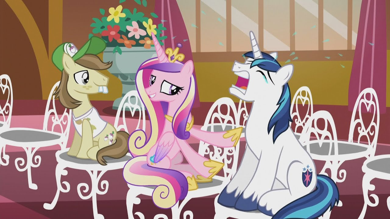 Princess Cadance & Shining Armor - It's alright. He always cries at ...