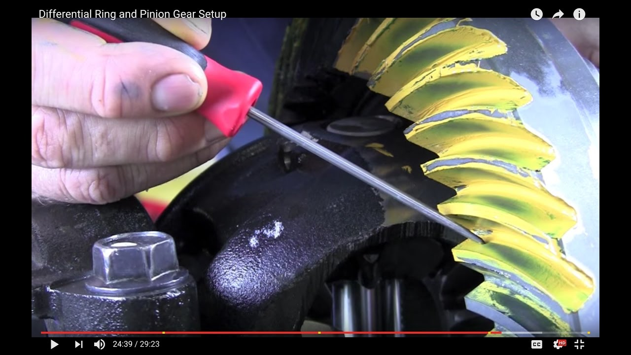 Differential Ring and Pinion Gear Setup - YouTube