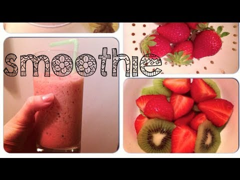 How To: Strawberry Kiwi Smoothie