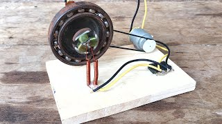 Electromotor Free Energy Generator Using Bearing With Wheel New Homemade Science Invention