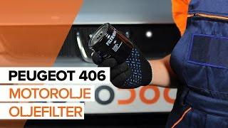 Hvordan bytte Oljefilter PEUGEOT 406 (8B) - online gratis video