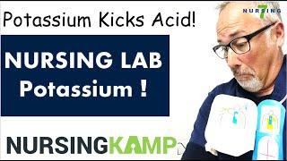 Potassium Lab Fishbone Course Hyperkalemia Hypokalemia Nursing KAMP