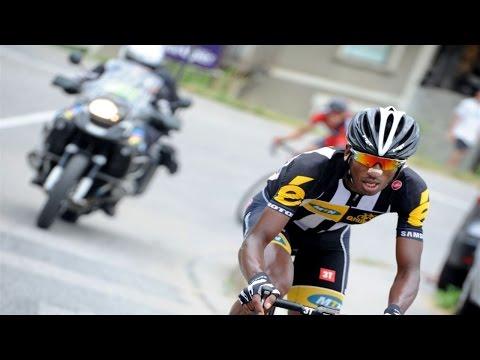 Daniel Teklehaimanot 2015 Tour de France Hero's Welcome Alpe d'Huez