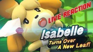 Isabelle Reveal for Super Smash Bros Ultimate Reaction!!!