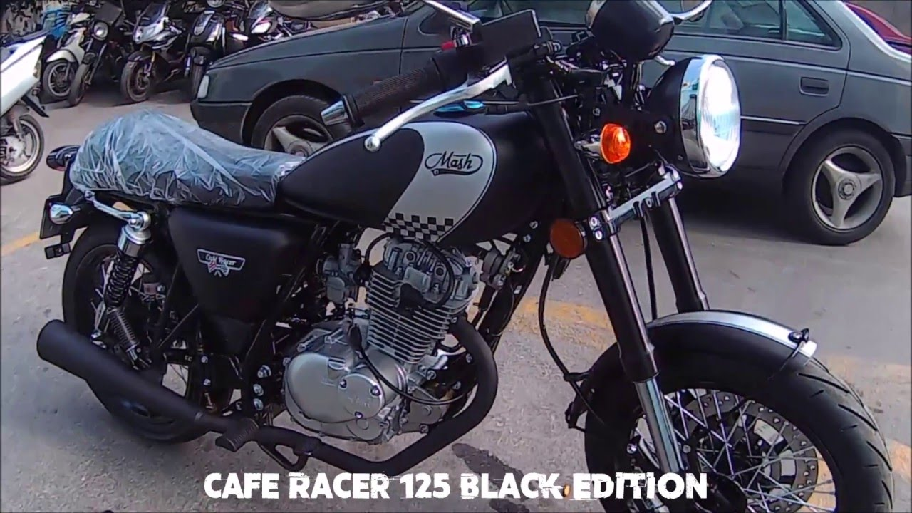 mbl mash cafe racer 125 black edition youtube. Black Bedroom Furniture Sets. Home Design Ideas