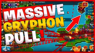 Lords Mobile ChaCha Gryphon - Massive Gryphon Pull! + Menjay vs 10 Million T4 Troops ☠