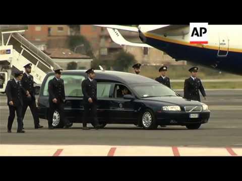 Body of Italian hostage killed in Nigeria is repatriated