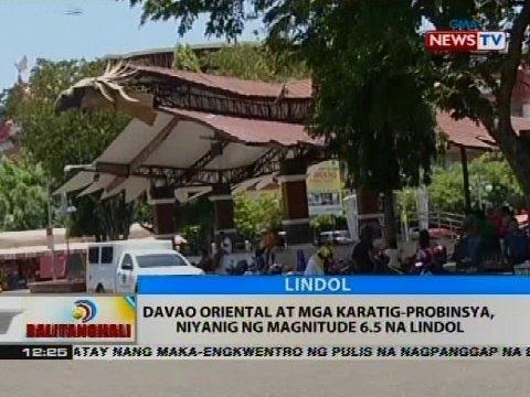 BT: Davao Oriental at mga karatig-probinsya, niyanig ng magnitude 6.5 na lindol
