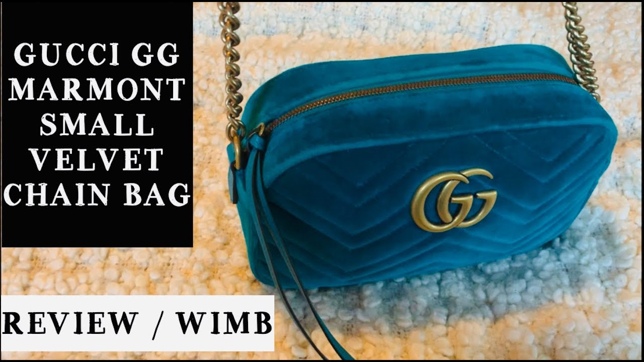 389ad6feec5 Gucci GG Marmont Velvet Small Shoulder Bag   6 Month Review and WIMB ...