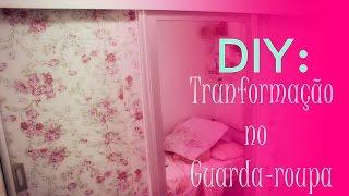 DIY/: Revestindo o guarda-roupa com papel de parede Decoratons