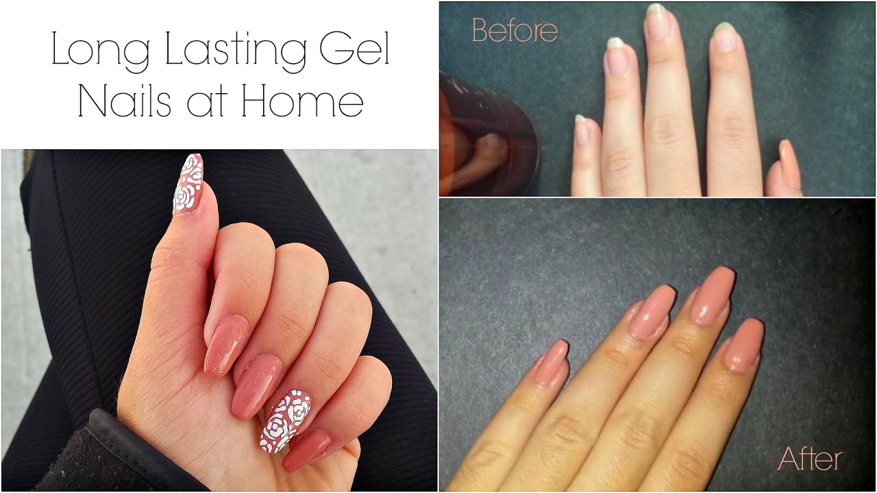 DIY) Long Lasting Gel Manicure at Home for Cheap - YouTube