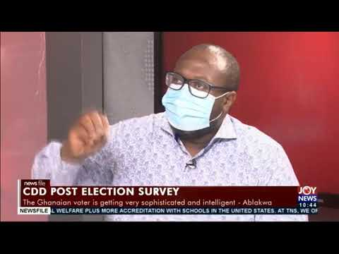 Post-election survey: It should be an indicator for gov't to take it seriously - Dr. Pumpuni Asante