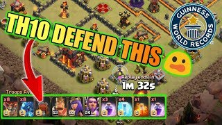 WORLD RECORD DEFENSE AT TH10,CLASH OF CLANS