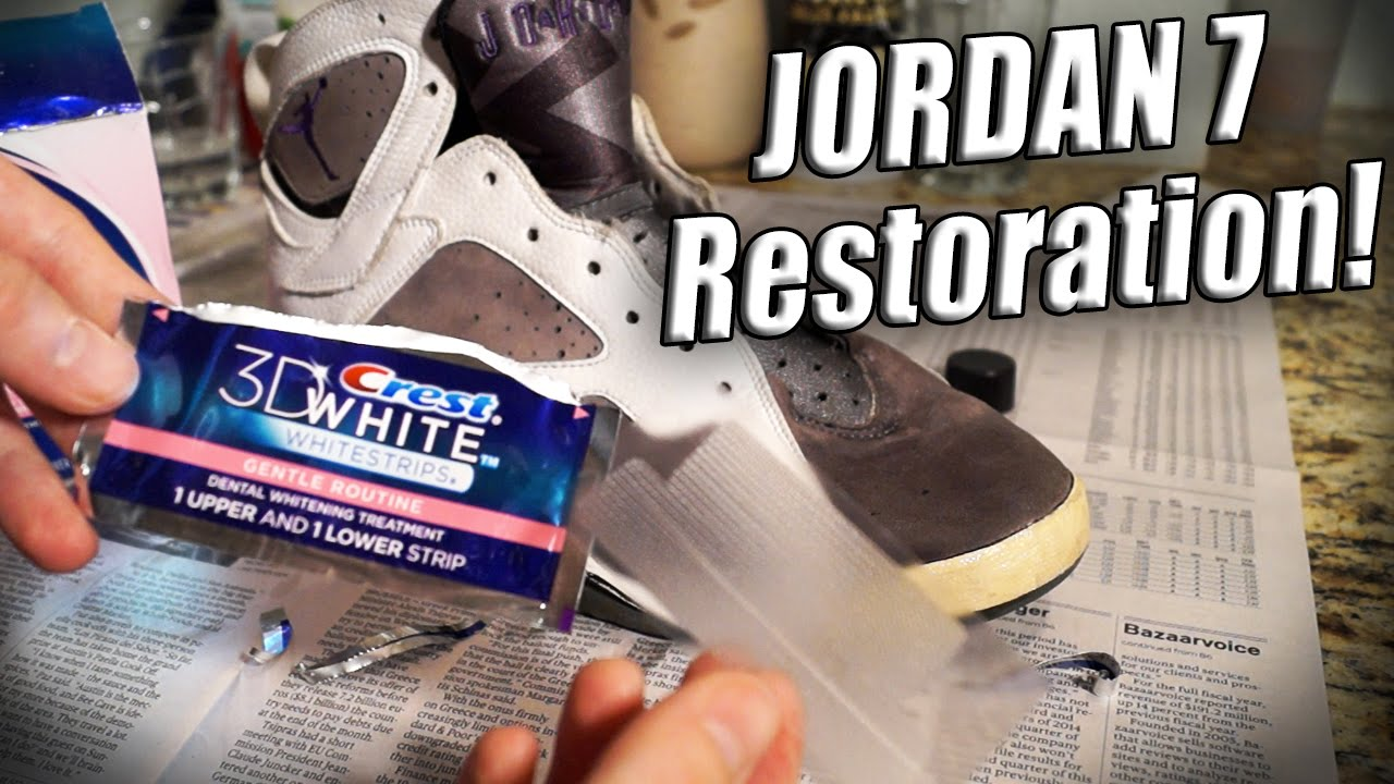 designer fashion 10a00 86084 How to Clean, Paint, and Restore Jordan 7 s (Rated R) Tutorial - YouTube