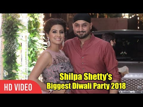 Harbhajan At Shilpa Shetty's Grand Diwali Party 2018