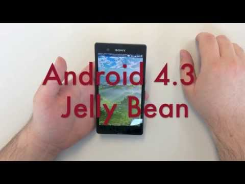 Sony Xperia Z Android 4.3 Jelly Bean Hands-On