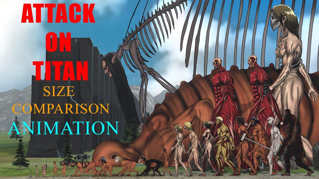 Download Attack On Titan Size Comparison 2021 / ANIMATION