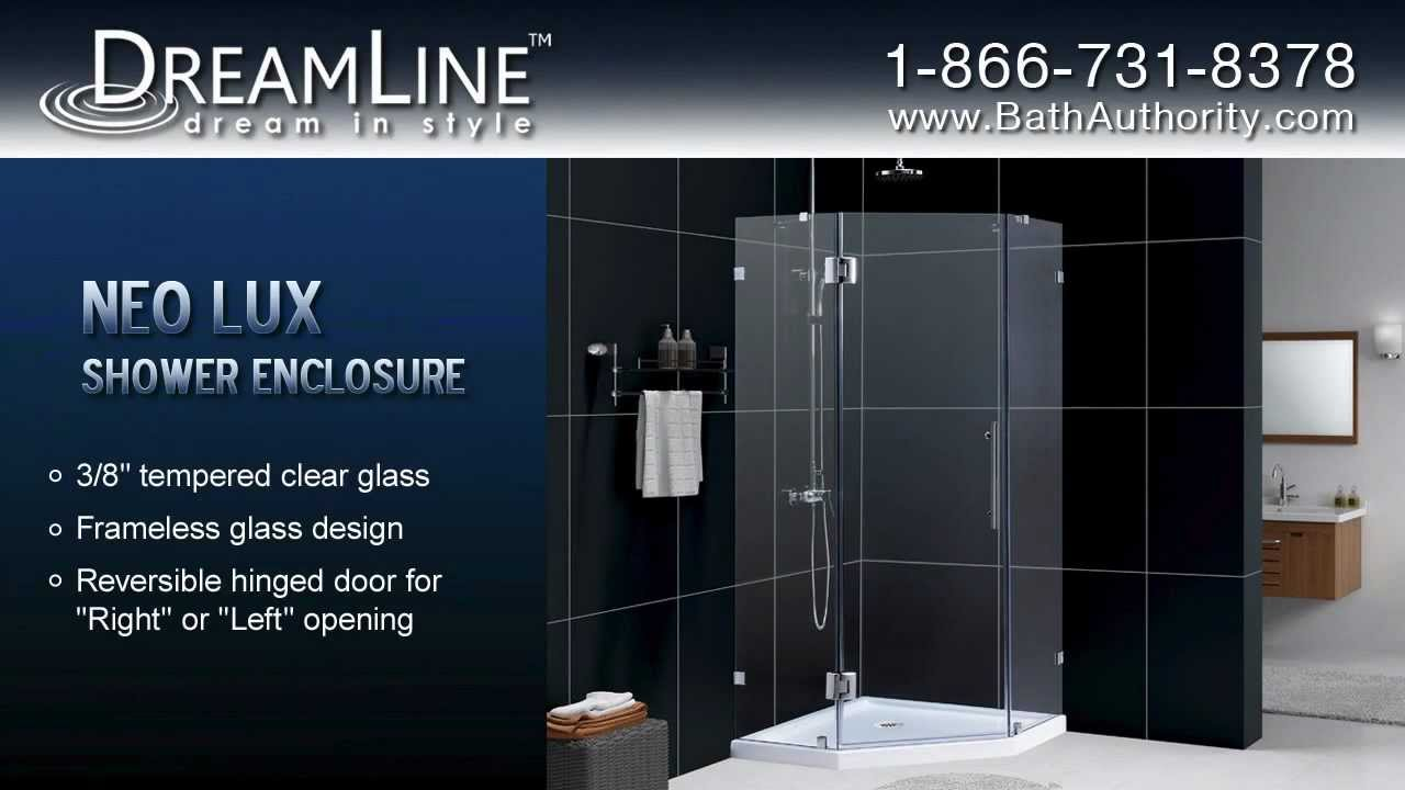 NEO Angle Shower Enclosures by DreamLine - YouTube
