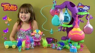 Trolls Poppy's Birthday Story with NEW Trolls Tree Pod Homes, Bridget Bergen and Friends Toys
