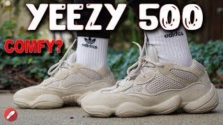 4a6ea1b13 Yeezy Desert Rat 500  Blush  Adidas Unboxing + Review + On Feet ...