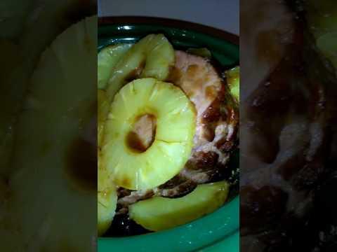 Brown Sugar Pineapple Honey Ham In Slow Cooker
