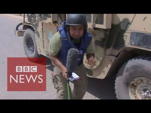 Under fire from ISIS snipers in Iraq - BBC News