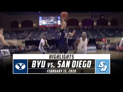 BYU vs. San Diego Basketball Highlights (2019-20) | Stadium