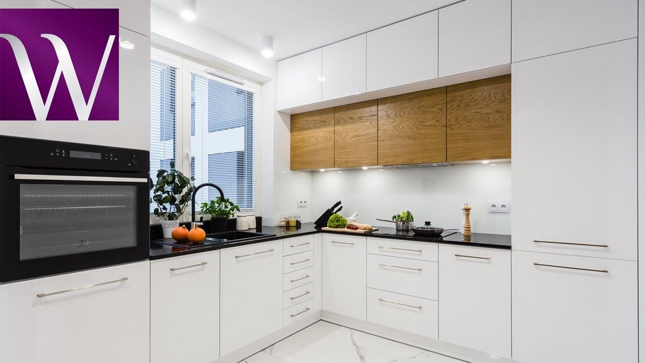 Nowoczesna Biała Kuchnia Z Akcentem Drewna Meble Wach Producent Mebli Kuchennych