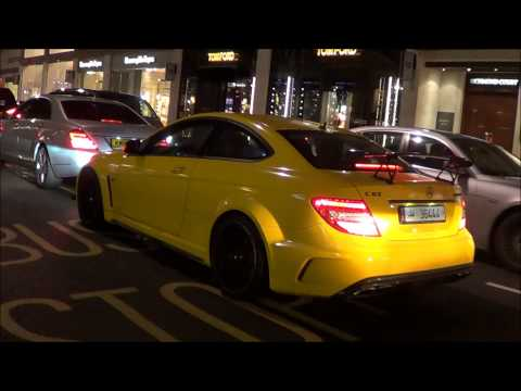 MHP Exhaust Mercedes C63 AMG Black Series Loud Accelrations, Revs and Downshifts