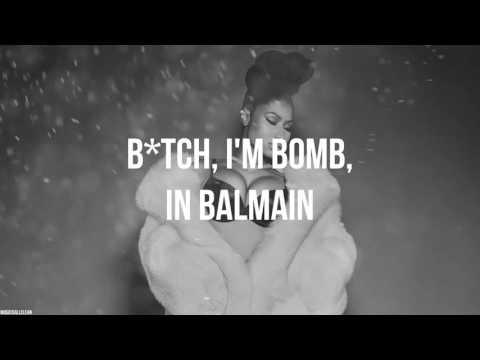 Nicki Minaj - Like A Star (Verse - Lyric Video) (Clean Version)