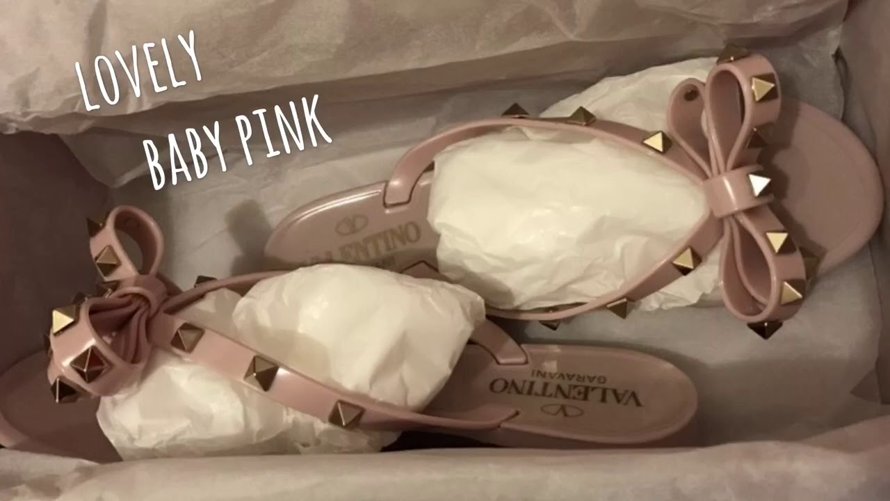 4309f633b3809 Valentino PVC Flip Flop, Baby pink 💕Summer Unboxing - YouTube