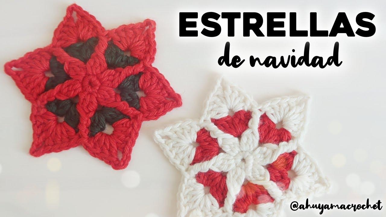 CÓMO TEJER ESTRELLA DE NAVIDAD A CROCHET: tutorial paso a paso, tejer estrella a crochet con relieve