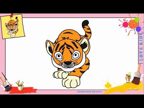 Comment Dessiner Un Tigre Facilement Etape Par Etape
