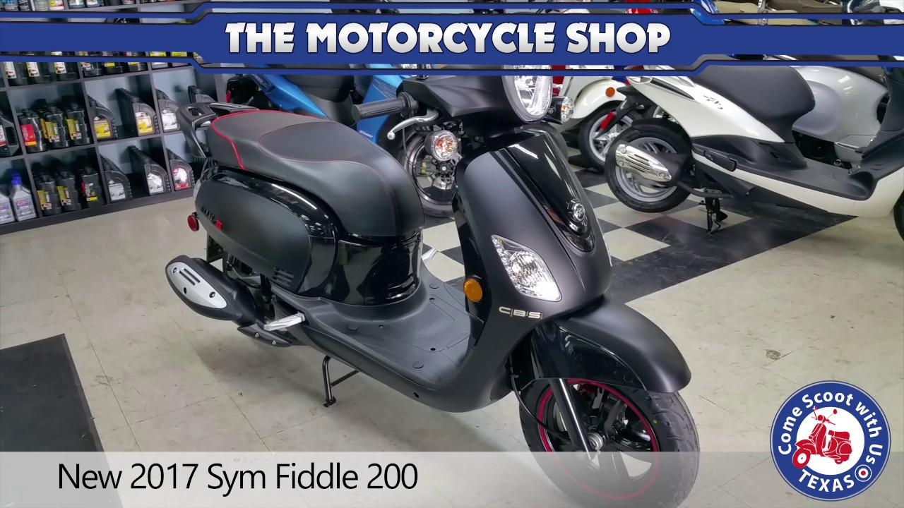 New 2017 Sym Fiddle 200 Black