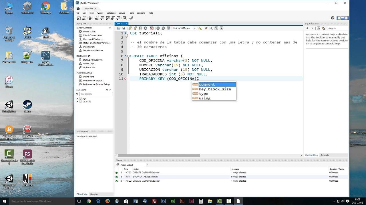 Tutorial 001 Sql MySQL Workbench - YouTube