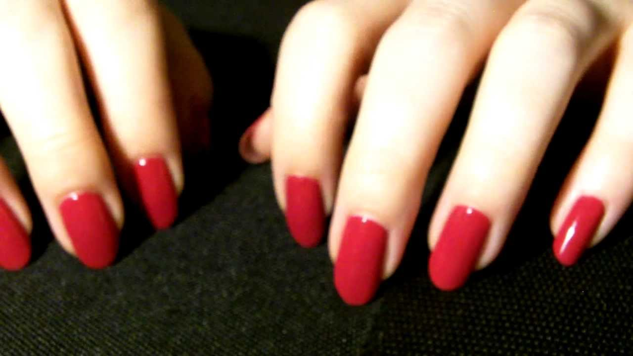 Red Nails Scratch - ASMR - YouTube